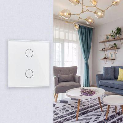 Inteligentny przełącznik Wi-Fi IQ-Tech SmartLife IQS002, zdalne włączanie i wyłączanie światła, minutnik, automatyzacja, inteligentny dom, inteligentne oświetlenie