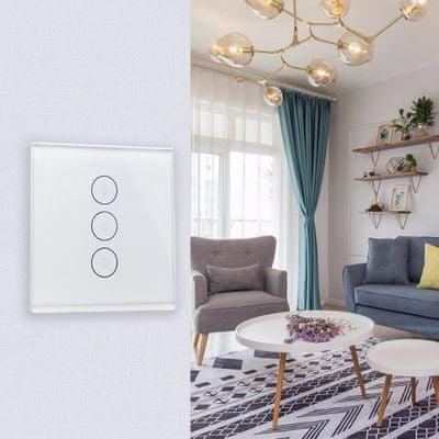 Chytrý Wi-Fi vypínač IQ-Tech SmartLife IQS003, zapínání a vypínání světel na dálku, časovač, automatizace, chytrá domácnost, chytrá světla osvětlení