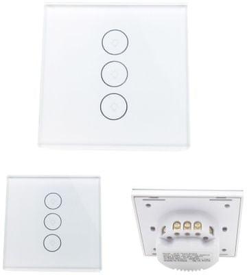 Chytrý Wi-Fi vypínač IQ-Tech SmartLife IQS003, chytré osvětlení, hlasový asistent, ovládání hlasem, Siri, Alexa, Google Home, IFTTT, aplikace, iOS, Android