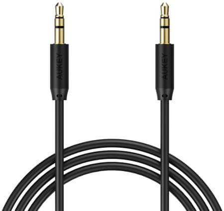 Aukey LLTS70940 audio kabel 1,2 m, crni