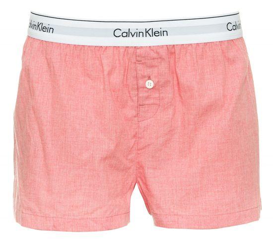 Calvin Klein dámské pyžamové kraťasy QS6080E SLEEP SHORT S lososová