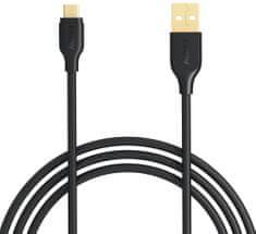 Aukey LLTS58189 Micro USB kabel za brzo punjenje, crno-zlatni
