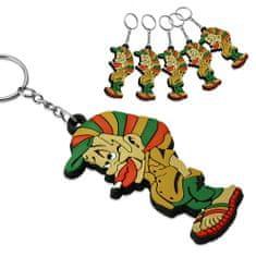 316Steel Gumová klíčenka Rastafarian TTK034