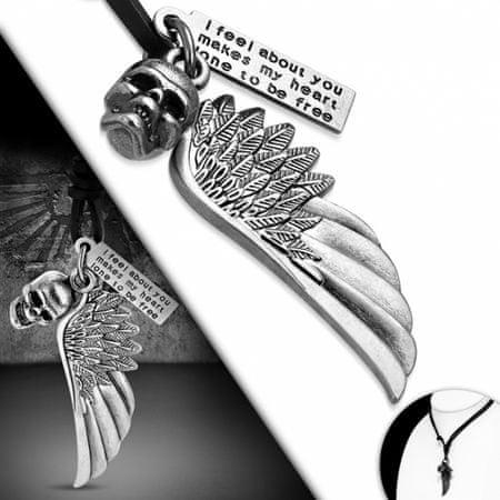 316Steel Kožený náhrdelník Lebka CTH537T