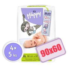 Bella Happy Detské prebaľovacie podložky - 4x5 ks