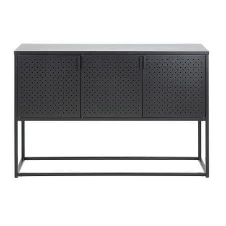 Design Scandinavia Odkládací skříň Lyfte, 120 cm, černá