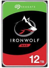 Seagate IronWolf 12 TB, SATA 6 Gb/s, 7200, 256 MB trdi disk NAS