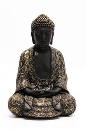 Sifcon Dekorace BUDDHA, černo/zlatý, 24cm