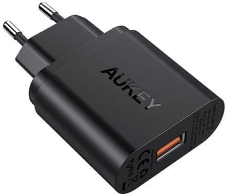 Aukey Ładowarka ze złączem USB 3.0, QuickCharge 3.0 / 18 W i kablem LLTSEU56322
