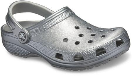 Crocs Classic Metallic Clog Gunmetal natikači, M4W6 (36-37)