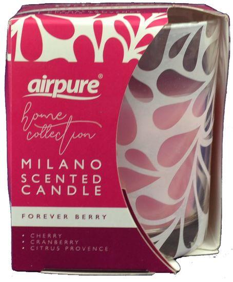 Airpure MILANO vonná svíčka 100 g Forever Berry
