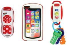 Alltoys Moja prvé vybavenie 3v1, kľúče od auta, telefón a ovládač