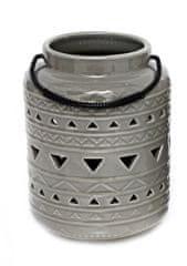 Sifcon Lucerna, 11,5x19cm, sivá, keramika s glazúrou