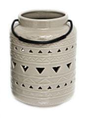 Sifcon Lucerna, 11,5x19cm, béžová, keramika s glazúrou