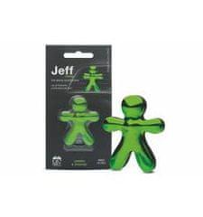 JEFF JEFF osvěžovač vzduchu zelený chrome - Lemon & Orange