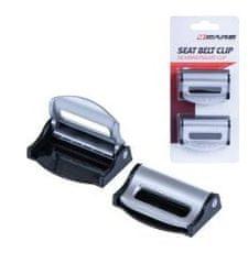 4Cars 4CARS Zarážka bezpečnostního pasu klip stříbrno černá