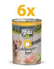 Grau Mokra hrana za pse Grau, puran in polnozrnat riž, 6 x 400 g