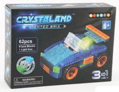 CrystaLand 3 u 1 kocke za sastavljanje Automobil, 62 kom
