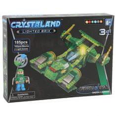 CrystaLand kocke za sastavljanje Svemirski brod 3u1, 185kom