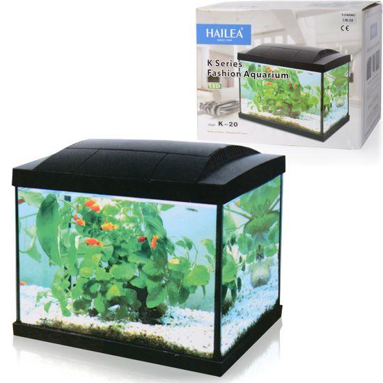 Hailea LED akvárium K20 čierne