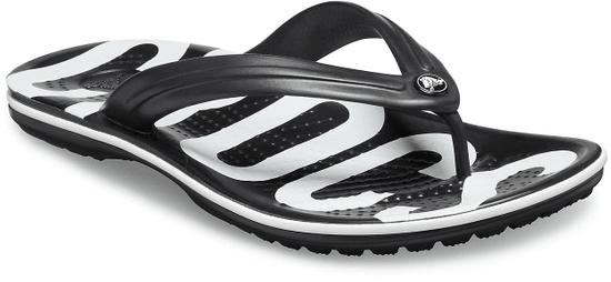 Crocs Crocband Printed Flip Black/White M6W8 (38-39)