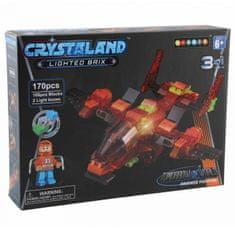 CrystaLand kocke za sastavljanje Zrakoplov 3u1, 170kom