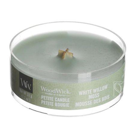 Woodwick Świeca zapachowa Petite White Mech Wierzbowy 30 g