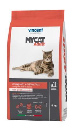 Vincent Mycat Adult suha hrana za odrasle mačke, 4 kg