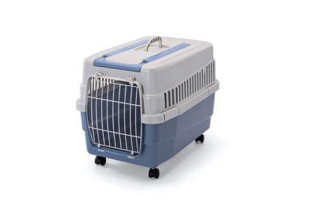 IMAC Skrzynia na kółkach dla psa i kota plastikowa, Niebieska