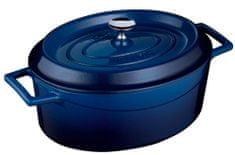 Lava Litinový hrnec oválný 31cm- modrý LVOTC31K2B