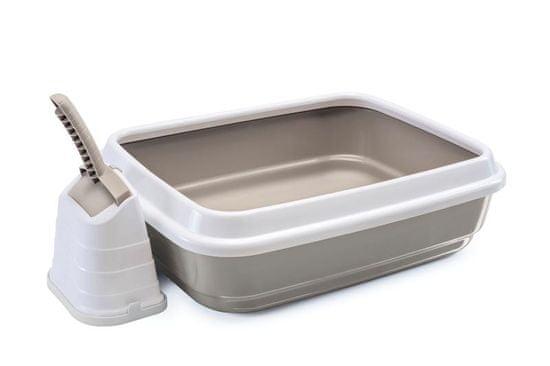 IMAC Kočičí záchod s vysokým okrajem a lopatkou, béžový - rozbaleno
