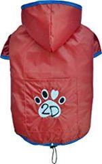 Doggy Dolly dežni plašček 2 tački, rdeč