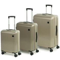 Rock Sada cestovních kufrů Windsor S + M + L, champagne