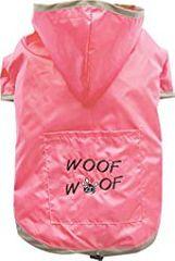 Doggy Dolly dežni plašček 2 tački, roza