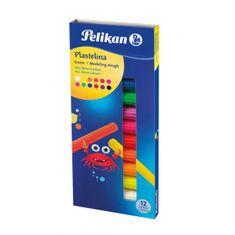 Pelikan Plastelína neónové farby, 12 ks