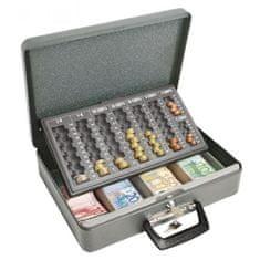 WEDO Euro-pokladnička Universa eco 370x100x280mm sivá