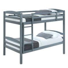 Poschodová posteľ, 90x200 cm, masívne drevo, FORKOLA