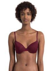 Calvin Klein Podprsenka s kosticí QF1739E-ZB7 bordo - Calvin Klein + dárek zdarma