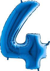 Grabo Nafukovací balónek číslo 4 modrý 102cm extra velký