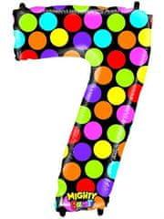 Grabo Nafukovací balónek číslo 7 barevný 102cm extra velký