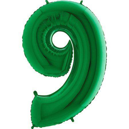 Grabo Nafukovací balónek číslo 9 zelený 102cm extra velký
