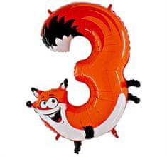 Grabo Nafukovací balónek liška číslo 3 pro děti 102cm