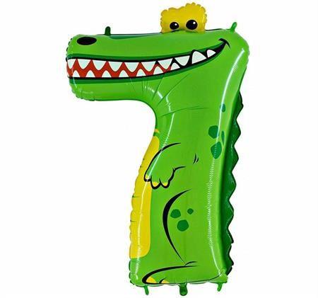 Grabo Nafukovací balónek krokodýl číslo 7 pro děti 102cm