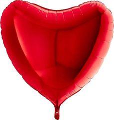 Grabo Nafukovací balónek červené srdce 91 cm