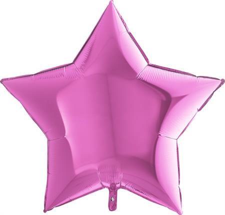 Grabo Nafukovací balónek růžová hvězda 91 cm