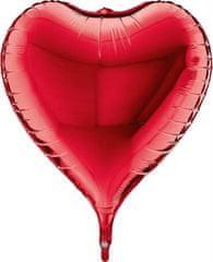 Grabo Nafukovací balónek červené srdce 3D 58cm