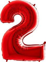 Grabo Nafukovací balónek číslo 2 červený 102cm extra velký
