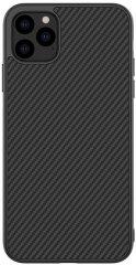 Nillkin Synthetic Fiber Ochranný Zadný Kryt pre iPhone 11 Carbon Black, 2448825