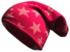 Yetty Długa ciepła czapka z gwiazdami