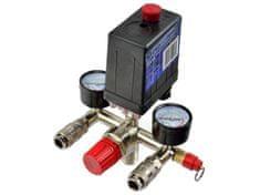 GEKO Tlakový spínací ventil + ukazatele tlaku pro vzduchový kompresor - náhradní díl, GEKO